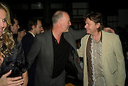 SIMON OAKES AND DANNY MOYNIHAN, Dinner after the opening of Larry Clark. Los Angeles 2003- 2006. Simon Lee Gallery.  17 Berkeley st. London. 5 February 2008.  *** Local Caption *** -DO NOT ARCHIVE-© Copyright Photograph by Dafydd Jones. 248 Clapham Rd. London SW9 0PZ. Tel 0207 820 0771. www.dafjones.com.