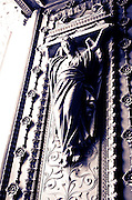 Door detail at the Fourvière Basilica in old town Vieux Lyon, France (UNESCO World Heritage Site)