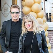 NLD/Amsterdam/20190401 -  Opening Burgerroom Gordon , Patricia Paay en partner Robbert Hinfelaar