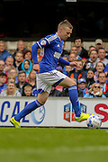 Freddie Sears on the ball during the Sky Bet Championship Play Off First Leg match between Ipswich Town and Norwich City at Portman Road, Ipswich, England on 9 May 2015. Photo by Simon Davies.