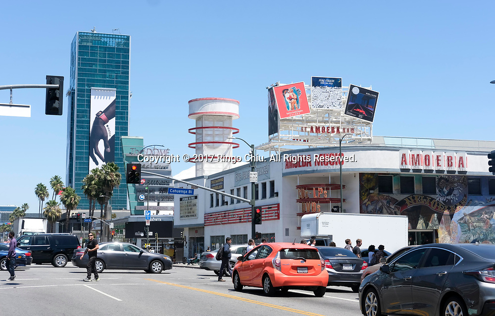 Amoeba Records with the Cinerama Dome.(Photo by Ringo Chiu)<br /> <br /> Usage Notes: This content is intended for editorial use only. For other uses, additional clearances may be required.
