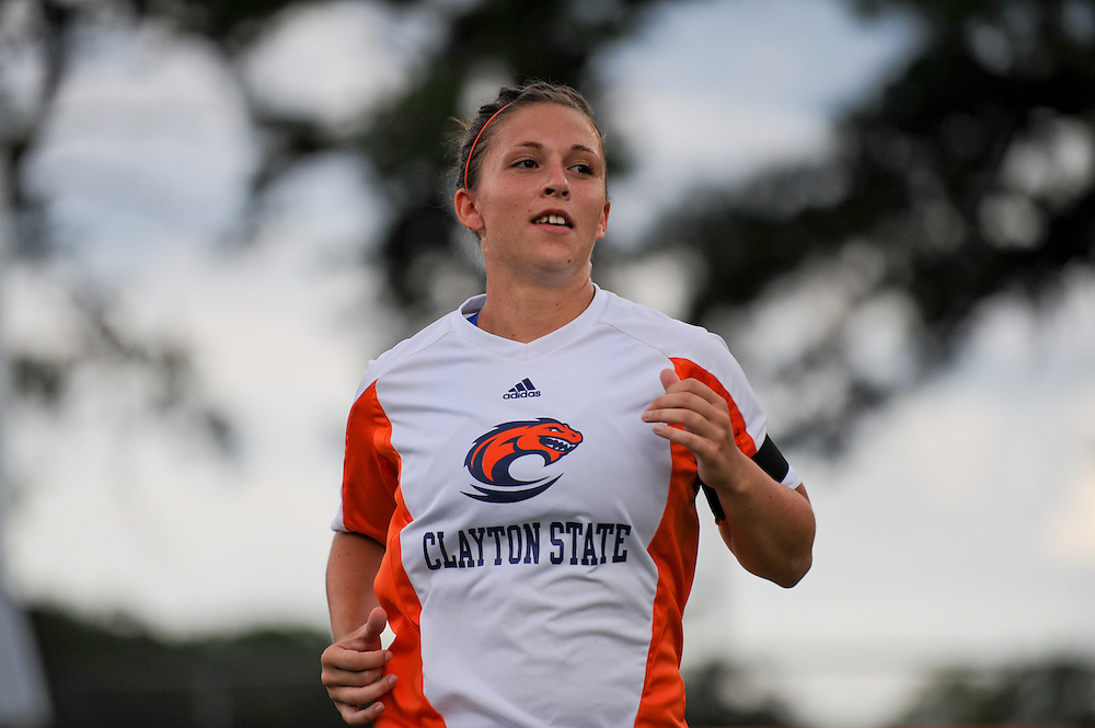 Sept. 15, 2012; Morrow, GA, USA; Clayton State women's soccer player Josefine Holsten against the Flagler at CSU. Photo by Kevin Liles/kdlphoto.com