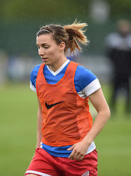 Bristol Academy's Grace McCatty warms up before the FA Women's Super League game between Bristol Academy Women and Notts County Ladies FC on 25 April 2015 in Bristol, England - Photo mandatory by-line: Paul Knight/JMP - Mobile: 07966 386802 - 25/04/2015 - SPORT - Football - Bristol - Stoke Gifford Stadium - Bristol Academy Women v Notts County Ladies FC - FA Women's Super League