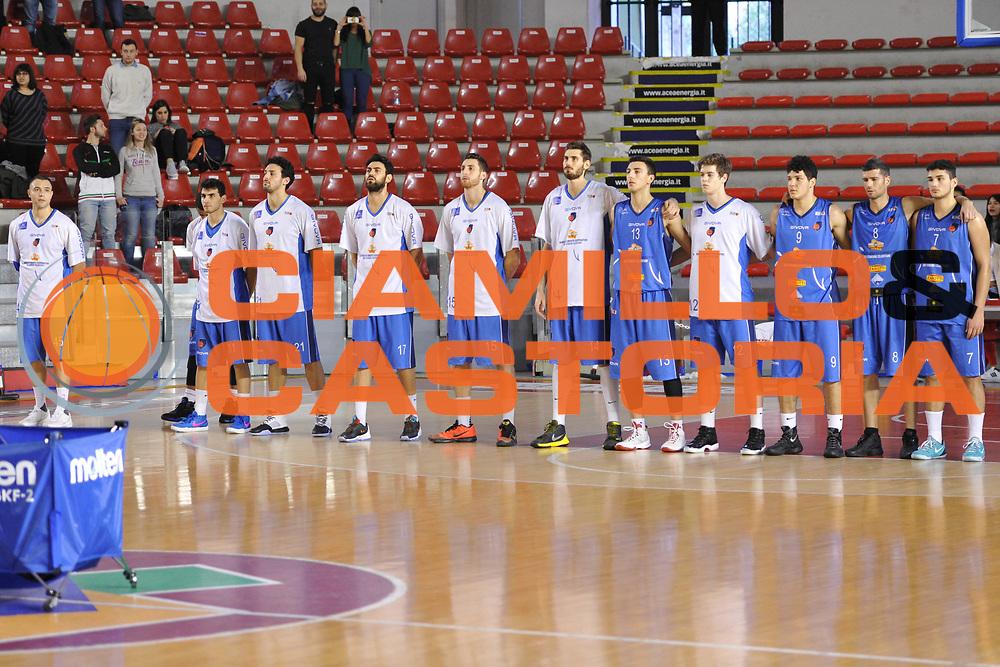 DESCRIZIONE : Roma LNP A2 2015-16 Acea Virtus Roma BCC Agropoli<br /> GIOCATORE : team Agropoli<br /> CATEGORIA : pre game inno<br /> SQUADRA : BCC Agropoli<br /> EVENTO : Campionato LNP A2 2015-2016<br /> GARA : Acea Virtus Roma BCC Agropoli<br /> DATA : 14/02/2016<br /> SPORT : Pallacanestro <br /> AUTORE : Agenzia Ciamillo-Castoria/G.Masi<br /> Galleria : LNP A2 2015-2016<br /> Fotonotizia : Roma LNP A2 2015-16 Acea Virtus Roma BCC Agropoli
