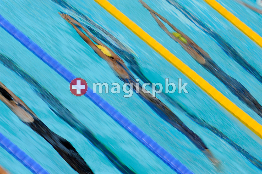 Lisbeth (Libby) TRICKETT (C) of Australia and Therese ALSHAMMAR (R) of Sweden compete in the women's 50m butterfly heats at the 13th FINA World Championships at the Foro Italico complex in Rome, Italy, Friday, July 31, 2009. (Photo by Patrick B. Kraemer / MAGICPBK)
