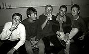 Shaun Ryder and North Side backstage, circa 1990