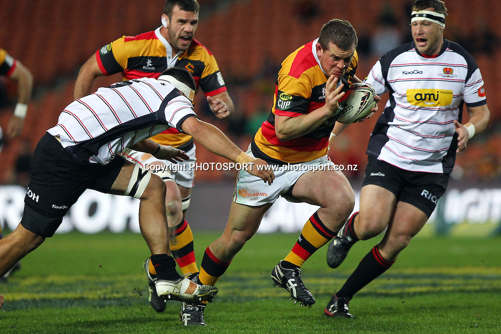 Waikato's Toby Smith makes a break. ITM Cup Final, Waikato v Canterbury at Waikato Stadium, Hamilton, New Zealand. Saturday 3rd September 2011. Photo: Anthony Au-Yeung / photosport.co.nz