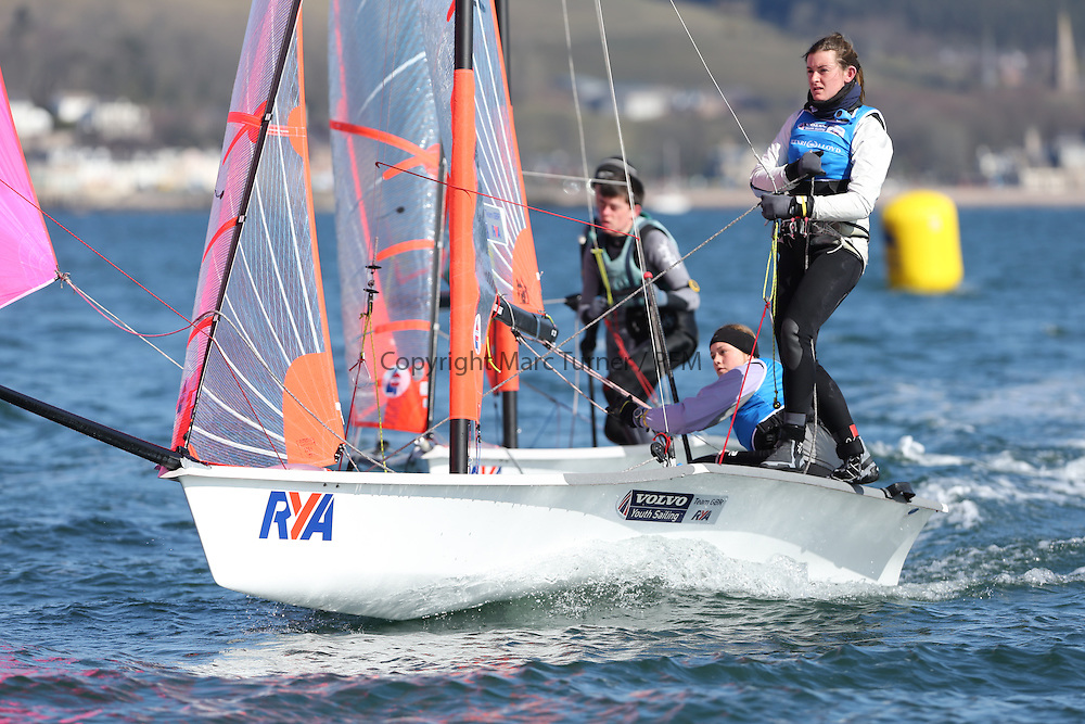 Image Credit Marc Turner..2018, Ruth ALLAN, Alice MASTERMAN, Emsworth SC, 29er, Girls..Day 5, RYA Youth National Championships 2013 held at Largs Sailing Club, Scotland from the 31st March - 5th April. .