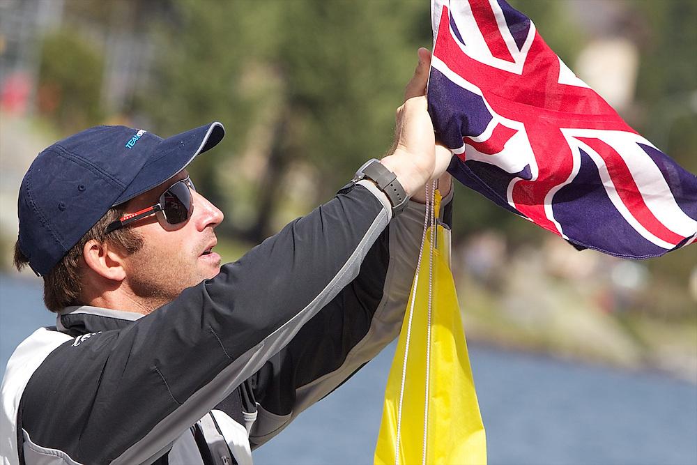 Ben Ainslie, TEAMORIGIN. St Moritz Match Race 2010. World Match Racing Tour. St Moritz, Switzerland. 2nd September 2010. Photo: Ian Roman/Subzero Images