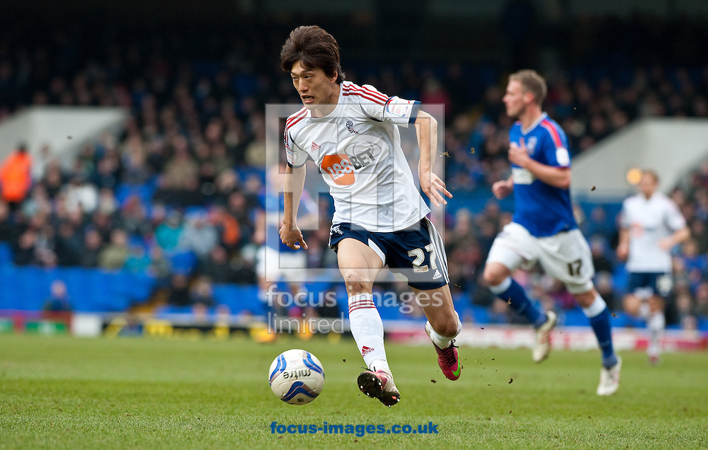 Picture by Will Oliver/Focus Images Ltd 075966707272.16/03/2013.Chung-Yong Lee of Bolton Wanderers playing against Ipswich Town at the npower Championship match at Portman Road, Ipswich.