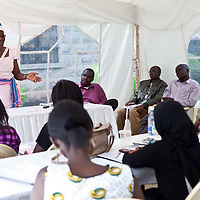 "Honorable Monica Amollo, a candidate for Parliament in 2012, as well as the founder of the Women's Shadow Parliament, speaks to participants of the Fall 2011 Network of Young Women Leaders (NoYWL) ""Answer the Call to Lead"" training."
