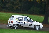 #42 Joe Cunnignham / Marc Fowler Vauxhall Corsa Northallerton Motor Club Procters Coaches, Coach2.com, Procters Motorsportduring Neil Howard Memorial Stage Rally, and opening round of the 2015 Motorsport News Rally Championship.  at Oulton Park, Little Budworth, Cheshire, United Kingdom. November 07 2015. World Copyright Peter Taylor. Copy of publication required for printed pictures.  Every used picture is fee-liable. http://archive.petertaylor-photographic.co.uk