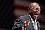 Former Republican Presidential Candidate, Herman Cain speaks at the annual Conservative Political Action Conference (CPAC) in Washington, D.C. on Thursday. ..CPAC, which began in 1973, attracts more than 10,000 people and The American Conservative Union, which runs it, announced it expected 1,200 members of the media.
