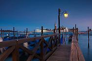 San Giorgio Maggiore and gondolas at St Mark's Square, Venice, Veneto, Italy