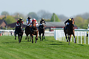 Global Prospector ridden by Adam Kirby, Bluebell Time ridden by Martin Dwyer , Lauras Legacy ridden by Liam Keniry and The Cruising Lord ridden by J F Egan - Ryan Hiscott/JMP - 19/04/2019 - PR - Bath Racecourse- Bath, England - Race 1 - Good Friday Race Meeting at Bath Racecourse