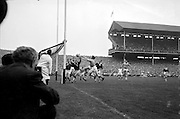 All Ireland Senior Football Final, 22nd September, 1963.Dublin V Galway.Only Goal of the Match.G. Davey (2nd from right) punches ball into net for Dublin goal. Galway Goalie M. Moore and other backs look on helplessly ..22.09.1963  22nd September 1963