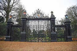The Norwich Gates to the Sandringham Estate in Norfolk, where Queen Elizabeth II and senior royals are holding crisis talks over the future roles of the Duke and Duchess of Sussex.