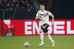 Niklas Sule of Germany during the UEFA Nations League A group 1 qualifying match between Germany and The Netherlands at the Veltins Arena on November 19, 2018 in Gelsenkirchen, Germany