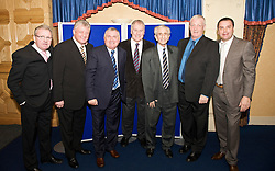 LIVERPOOL, ENGLAND - Friday, November 27, 2009: L-R xxxx, Sean Styles, Ronnie Goodlass, Joe Royle, Dave Hickson, xxxx, Graeme Sharp at the Health Through Sport charity dinner at the Devonshire House. (Photo by David Rawcliffe/Propaganda)