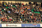 Twickenham, United Kingdom, Saturday, 17th  November 2018, RFU, Rugby, Stadium, England, Spectators, enjoy the setting Sun before the start of the Quilter Autumn International, England vs Japan, © Peter Spurrier