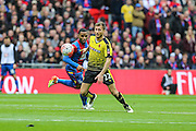 Watford's Almen Abdi on the ball during the The FA Cup match between Crystal Palace and Watford at Wembley Stadium, London, England on 24 April 2016. Photo by Shane Healey.