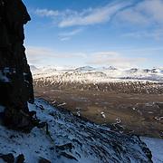 View over Breiðdalur, Iceland.