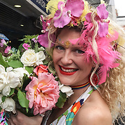 London,England,UK. 22th May 2017. Morning Gloryville 4th birthday - photocall will be celebrating its 4th Birthday at Brixton Beach Rooftop, with what's set to be one of its most memorable morning raves to date at Brixton station. ny See Li