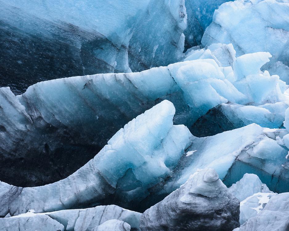 Collapsed ice, Breiðamerkurjökull, Iceland