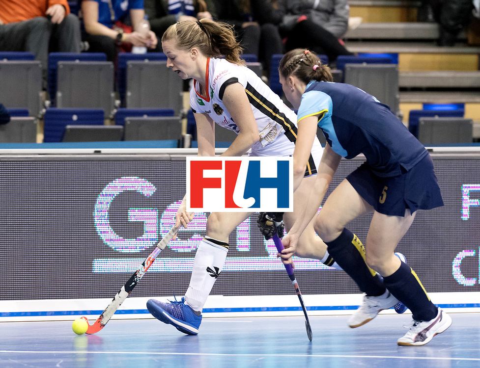 BERLIN - Indoor Hockey World Cup<br /> Women: Ukraine - Germany<br /> foto: Franzisca Hauke.<br /> WORLDSPORTPICS COPYRIGHT FRANK UIJLENBROEK