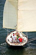 Kestrel racing at the New York Yacht Club Race Week.