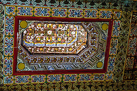 Morocco, Marrakesh. The Bahia Palace has some beautiful details, like this ceiling.