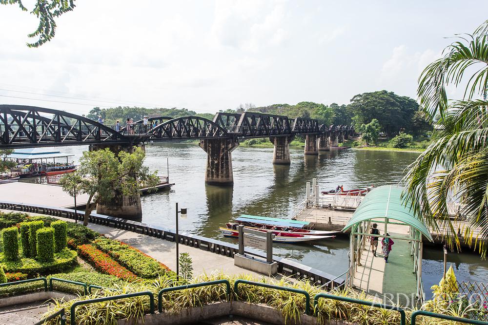 Bridge on the River Kwai in Kanchanaburi Thailand kanchanaburi bridge river kwai thailand