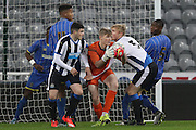 William Mannion of AFC Wimbledon during the FA Youth Cup match between Newcastle United and AFC Wimbledon at St. James's Park, Newcastle, England on 6 January 2016. Photo by Stuart Butcher.