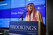 Brookings Al-Jubeir Foreign Minister Saudi Arabia Speaking Event
