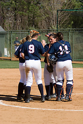The Virginia Cavaliers Softball Team defeated the Towson Tigers 5-2 in the first of a doubleheader on April 3, 2007 at the Park in Charlottesville, VA.