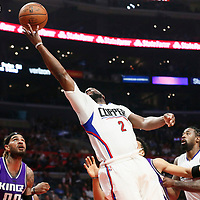 26 March 2016: LA Clippers guard Raymond Felton (2) goes for the layup during the Sacramento Kings 98-97 victory over the Los Angeles Clippers, at the Staples Center, Los Angeles, California, USA.