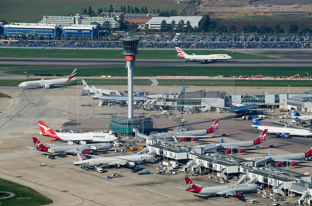 ©London News pictures...  .Generic file aerial picture of London Heathrow Airport in West London.