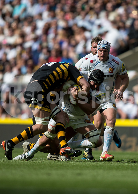 Mitch Lees of Exeter Chiefs during the Aviva Premiership play-off Final between Wasps and Exeter Chiefs at Twickenham Stadium, Twickenham, United Kingdom on 27 May 2017. Photo by Steve Ball.