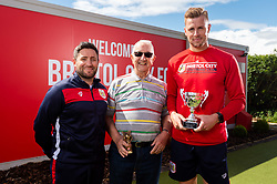 Lee Johnson, Keith Parry and Adam Webster with the Senior Reds Player of the Year award - Ryan Hiscott/JMP - 25/04/2019 - PR - Failand - Bristol, England - Bristol City End of Season Awards