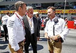July 1, 2018 - Spielberg, Austria - Motorsports: FIA Formula One World Championship 2018, Grand Prix of Austria, ..Bodo Uebber, Chase Carey, Christian Horner (GBR, Aston Martin Red Bull Racing) (Credit Image: © Hoch Zwei via ZUMA Wire)