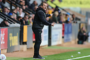 Forest Green Rovers manager, Mark Cooper during the EFL Sky Bet League 2 match between Cambridge United and Forest Green Rovers at the Cambs Glass Stadium, Cambridge, England on 7 September 2019.