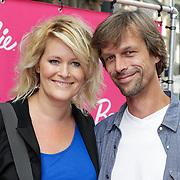 NLD/Amsterdam/20120909- Filmpremiere Barbie, Erika Karst met partner