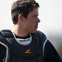 11 April 2010: Boris Marche of Rouen is seen during game 1/week 1 of the French Elite season won 5-1 by Rouen over Montigny, at the Cougars Stadium in Montigny le Bretonneux, France.