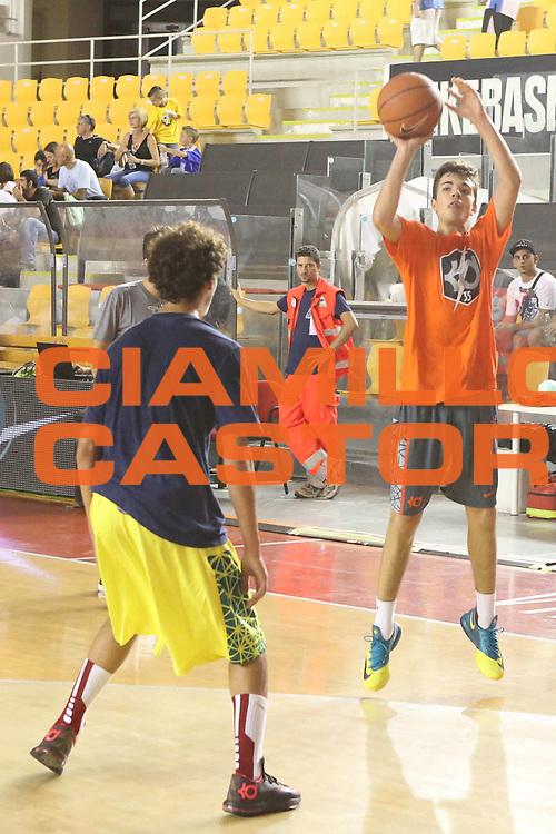 DESCRIZIONE : Roma Lega A 2013-2014 Nike Pallacanestro La Virtus Roma incontra Kevin Durant<br /> GIOCATORE : ragazzi torneo 3vs3<br /> CATEGORIA : tiro equilibrio<br /> SQUADRA :<br /> EVENTO : Nike Pallacanestro La Virtus Roma incontra Kevin Durant<br /> GARA : <br /> DATA : 07/09/2013<br /> SPORT : Pallacanestro <br /> AUTORE : Agenzia Ciamillo-Castoria/M.Simoni<br /> Galleria : Lega Basket A 2013-2014  <br /> Fotonotizia : Roma Lega A 2013-2014 Nike Pallacanestro La Virtus Roma incontra Kevin Durant<br /> Predefinita :