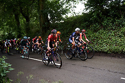 Hannah Barnes (GBR) on the first climb at Stage 3 of 2019 OVO Women's Tour, a 145.1 km road race from Henley-on-Thames to Blenheim Palace, United Kingdom on June 12, 2019. Photo by Sean Robinson/velofocus.com