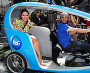 """Vanessa Lachey poses as P&G Launches """"Everyday Effect Campaign"""" in Herald Square in New York City, New York on June 19, 2013."""