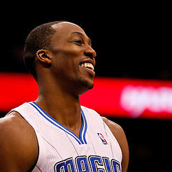 March 11, 2012; Orlando, FL, USA; Orlando Magic center Dwight Howard (12) against the Indiana Pacers during the second quarter of a game at  Amway Center.   Mandatory Credit: Derick E. Hingle-US PRESSWIRE