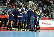 France players before the EHF 2018 Men's European Championship, 1/2 final Handball match between France and Spain on January 26, 2018 at the Arena in Zagreb, Croatia - Photo Laurent Lairys / ProSportsImages / DPPI