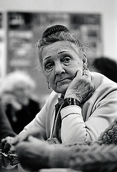 Portrait of an elderly woman, Edwards Lane Community Centre, Nottingham, UK 1989