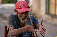 Dominoe player, Havana, Cuba 2020 from Santiago to Havana, and in between.  Santiago, Baracoa, Guantanamo, Holguin, Las Tunas, Camaguey, Santi Spiritus, Trinidad, Santa Clara, Cienfuegos, Matanzas, Havana